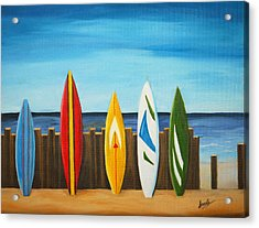 Surf On Acrylic Print