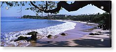 Surf On The Beach, Mauna Kea, Hawaii Acrylic Print