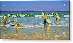 Surf School At St Ives Acrylic Print