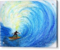 Surf Acrylic Print by Serene Maisey
