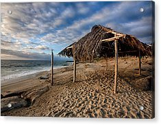Surf Shack II Acrylic Print by Peter Tellone