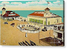 Surf Theatre And Seaview Pavilion At Salisbury Beach Ma 1937 Acrylic Print