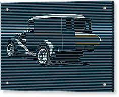 Surf Truck Ocean Blue Acrylic Print by MOTORVATE STUDIO Colin Tresadern