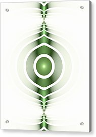 Surface Waves - Green Acrylic Print by Anastasiya Malakhova