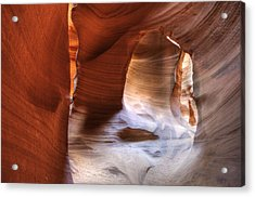 Surfaces Of Antelope Canyon Acrylic Print by Darlene Bushue
