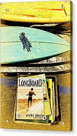 Surfboards And Magazines Acrylic Print