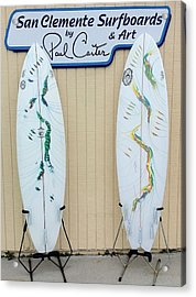 Surfboards In San Clemente Acrylic Print