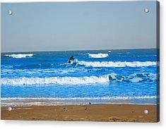 Surfer Acrylic Print by Aaron Balderas