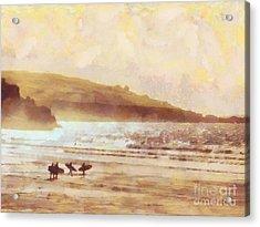 Surfer Dawn Acrylic Print by Pixel Chimp