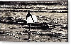 Surfer Girl Acrylic Print by Scott Allison