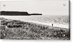 Surfer In A Hurry Acrylic Print by Arkady Kunysz