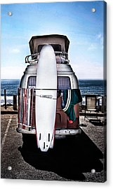 Surfer Acrylic Print by James David Phenicie