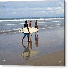 Surfer Reflection Acrylic Print by Jack Adams