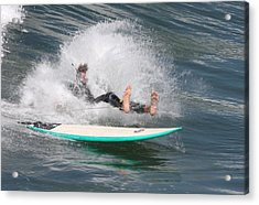 Acrylic Print featuring the photograph Surfer Wipeout by Nathan Rupert