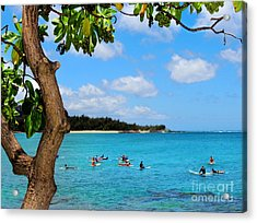 Acrylic Print featuring the photograph Surfers In Paradise by Kristine Merc