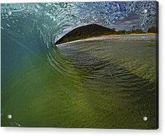 Surfers View Acrylic Print by Brad Scott