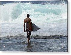 Surfing Brazil 3 Acrylic Print by Bob Christopher