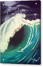 Surfing Dare Devil  Acrylic Print