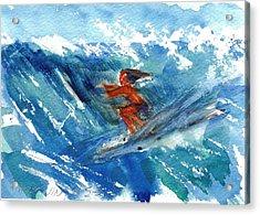 Surfing I Acrylic Print by Ramona Wright
