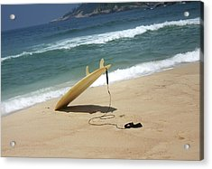 Surfing In Rio Acrylic Print by Frederico Borges