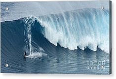 Surfing Jaws 5 Acrylic Print by Bob Christopher