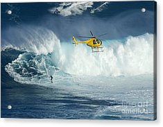 Surfing Jaws 6 Acrylic Print by Bob Christopher