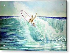 Surfing California Acrylic Print