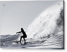 Acrylic Print featuring the photograph Surfing The Avalanche by Paul Topp