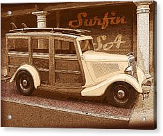 Surfing Usa Woodie Acrylic Print