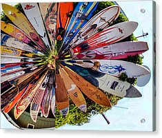 Acrylic Print featuring the photograph Surf's Up by Cathy Donohoue