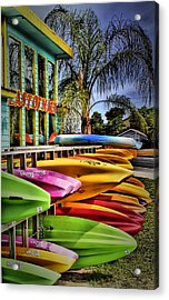Surf's Up Acrylic Print by Robert McCubbin