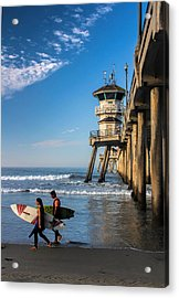 Surf's Up Acrylic Print by Tammy Espino