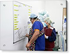 Surgical Equipment Tracking Acrylic Print by Mark Thomas