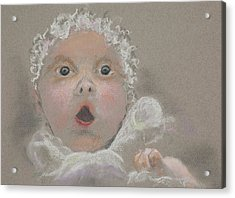 Surprised Baby Acrylic Print by Jocelyn Paine