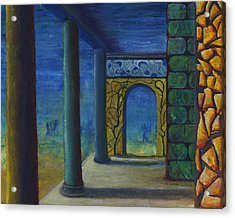 Surreal Art With Walls And Columns Acrylic Print by Lenora  De Lude