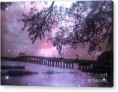 Surreal Beaufort South Carolina Nature And Bridge  Acrylic Print by Kathy Fornal