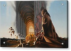 Surreal Cathedral Acrylic Print by Dave Martsolf