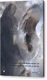 Surreal Dreamy Ethereal Fantasy Spiritual Angel Art With Inspirational Message Acrylic Print by Kathy Fornal