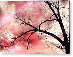 Surreal Fantasy Gothic Nature Tree Sky Landscape - Fantasy Nature Acrylic Print by Kathy Fornal