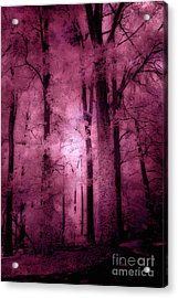 Surreal Fantasy Pink Forest Woodlands Acrylic Print