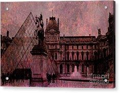 Surreal Paris Louvre Museum Architecture Pyramid Acrylic Print