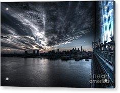 Surreal Philadelphia Skyline Acrylic Print