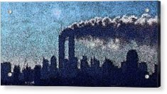 Acrylic Print featuring the digital art Surreal Silhouette  by James Kosior