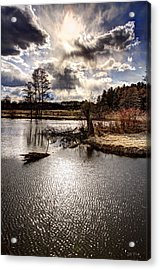 Surreal Sky At Sunfish Pond Acrylic Print