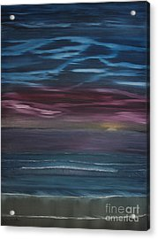 Acrylic Print featuring the painting Surreal Sunset by Ian Donley