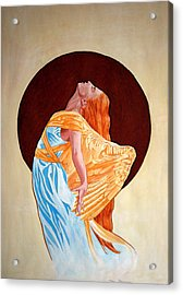 Acrylic Print featuring the painting Surrender by Leena Pekkalainen
