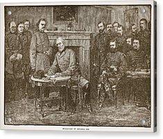 Surrender Of General Lee Acrylic Print by Alfred R Waud