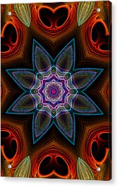 Acrylic Print featuring the digital art Surround by Owlspook