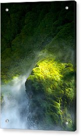 Surrounded By Mist   Vertical Acrylic Print by Mary Lee Dereske