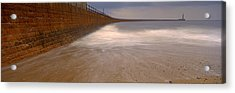 Surrounding Wall Along The Sea, Roker Acrylic Print